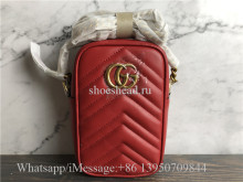 Original Quality Gucci Red GG Marmont Mini Bag