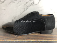 Christian Louboutin Dress Shoes Black Suede Loafer