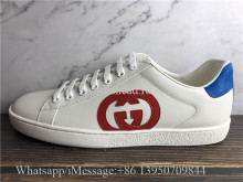 Super Quality Gucci GG Ace Embroidered Shoes White