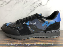 Valentino Camo Runner Shoes Blue Black