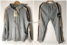 A Set Of Gucci Grey Hoodie Suit & Pants With Tiger(US Size)
