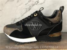Super Quality Louis Vuitton Monogram Casual Sneakers Black