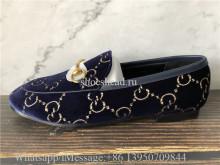 Super Quality Gucci Moccasins Loafer Blue Velvet