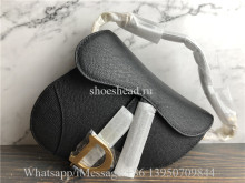 Original Dior Saddle Black Grained Calfskin Bag