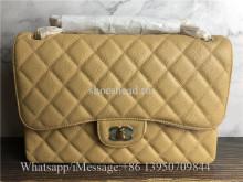 Original Quality Chanel Jumbo Caviar Double Flap Bag Beige 30cm
