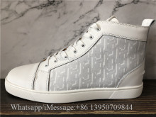 Christian Louboutin Flat High Top Shoes White
