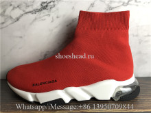 Balenciaga Speed Knit High Top Sneakers Rouge Air Bubble