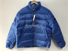 Dior Oblique Puffer Blouson Electric Jacket Baby Blue