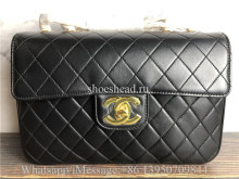 Original Chanel Vintage Classic Double Flap Bag Quilted Lambskin