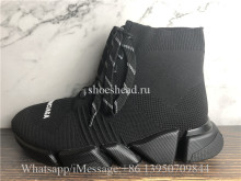 Balenciaga Speed 2.0 Lace Up Sneakers Triple Black