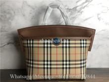 Original Burberry Small Vintage Check Society Top Handle Bag