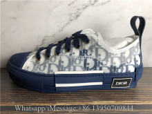 Dior B23 Low Top Sneaker White Blue