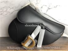 Original Dior Saddle Black Calfskin Bag
