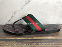 Gucci Kika Web Thong Sandals Flip Flop