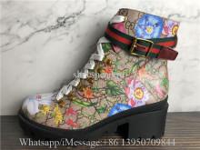Gucci GG Supreme Flora Ankle Boot
