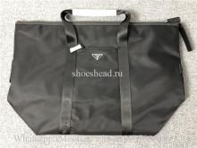 Original Prada Nylon And Saffiano Leather Duffle Bag