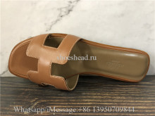 Hermes Slide Tan
