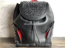 Christian Louboutin Explorafunk Black Leather Multi Spike Backpack