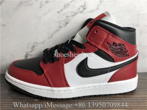 Air Jordan 1 Retro Mid Chicago Black Toe