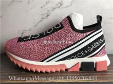 Dolce & Gabbana Sorrento Swarovski Crystal-embellished Sneakers Pink