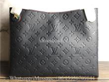 Original Louis Vuitton Surene MM Monogram Empreinte Leather Bag Navy Red M43759