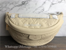 Original Louis Vuitton Monogram Empreinte Bumbag Beige M44812