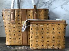 MCM Toni Logo Medium Shopper Tote Bag