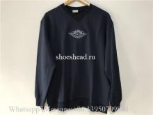 Dior Logo Sweatershirt Navy Blue