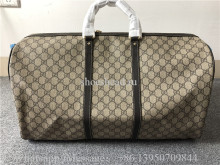 Original Gucci GG Monogram Brown Canvas Duffle Travel Bag