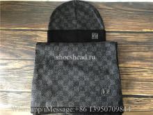 Louis Vuitton Damier Grey Scarf & Hat
