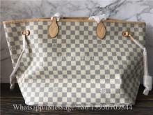 Original Louis Vuitton Neverfull GM Beige Damier Azur Canvas Bag N41360