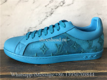 Super Quality Louis Vuitton Luxembourg Sneaker Turquoise Blue