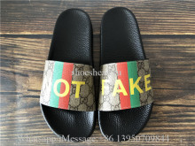 Gucci Brown Pursuit Fake Not Print Slide Sandals