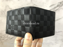 Original Louis Vuitton Black Damier Infini Leather Multiple Wallet M63124