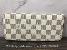 Original Louis Vuitton Damier Azur Canvas Clemence Wallet N61264