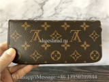 Original Louis Vuitton Monogram Fuchisa Clemence Wallet M60742