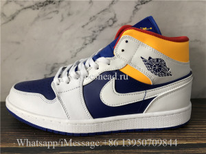 Air Jordan 1 Mid Blue Yellow White
