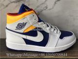 Air Jordan 1 Mid Blue Yellow White