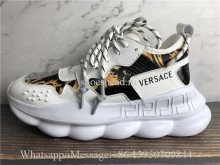 Versace Chain Reaction Baroque-print Sneakers