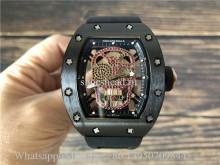 Richard Mille RM052-01 Skull Tourbillon Pink Rubies Watch
