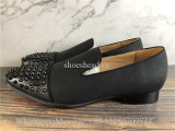Christian Louboutin Spike Dess Shoes Loafer Black