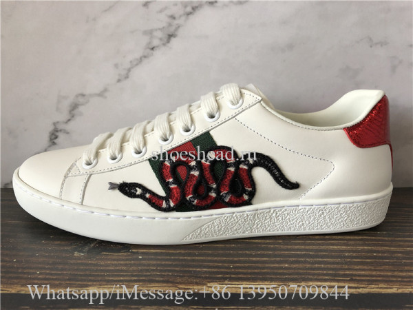 Super Quality Gucci Ace Embroidered Sneaker Snake