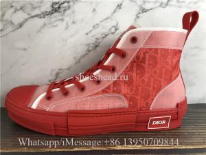 Dior B23 High-Top Sneakers Triple Red