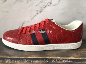 Super Quality Gucci Ace Embroidered Sneaker Red White