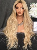 Ladystar Lace Front Wigs Center Part Body Wave Synthetic Long Wig