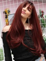 Ladystar Lace Front Wigs Synthetic See-through Bang Body Wave Long Wig
