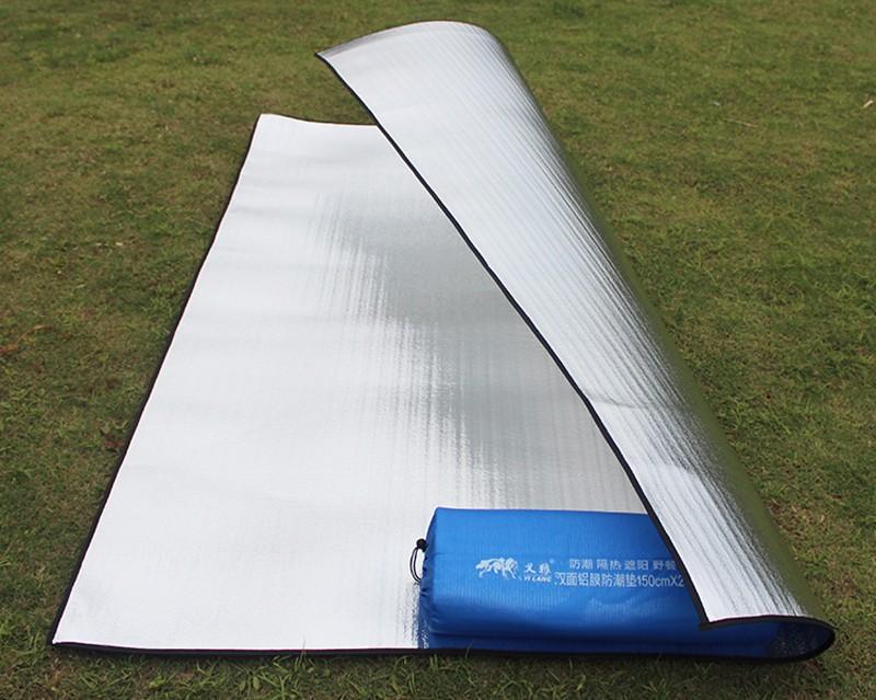 Ultralight Waterproof Camping Mat Beach Blanket Picnic Mattress Sleeping Pad Aluminum Foil EVA Foam Mat Outdoor Tent Pad