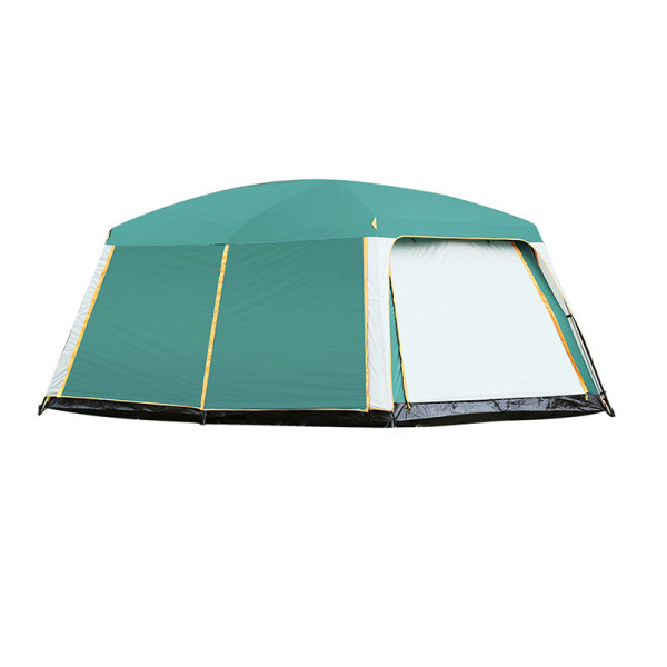 Tentsme Instant Family Waterproof Tent 8 9 10 Person 3 4 Season Easy Set Up 2 Rooms 3 Doors 4 Windows Green Oxford Cloth 170'x120'x80'