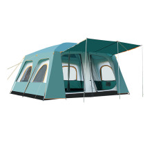 Tentsme Family Waterproof Instant Tent 8 9 10 Person Easy Setup 3 Doors 2 Rooms 3 4 Seasons 4 Windows Green Oxford Cloth Cabin 181'x141'x83'