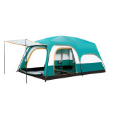 Tentsme Camping Cabin 2 Rooms Tent With Two Bedrooms And A Living Room For 6 8 10 Person, 3 Sizes